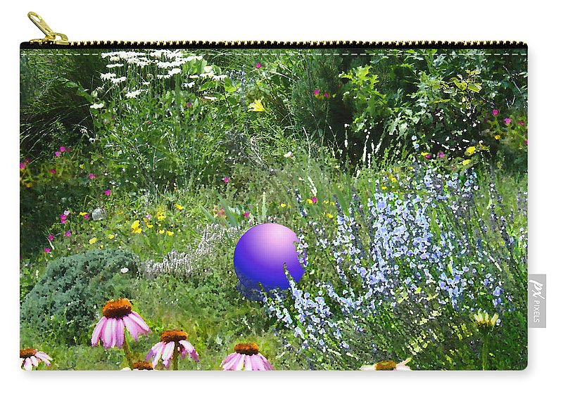 Garden Carry-all Pouch featuring the digital art Garden Universe by Steve Karol