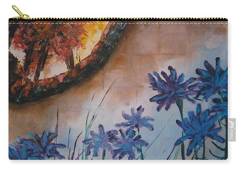 Flowers Carry-all Pouch featuring the painting Garden Wall by Lord Frederick Lyle Morris - Disabled Veteran