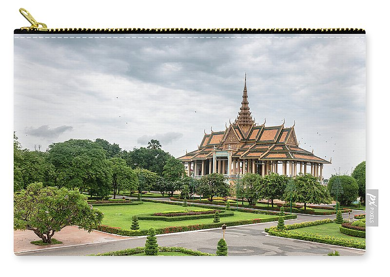 Southeast Asia Carry-all Pouch featuring the photograph Gardens At The Royal Palace In Phnom by Tbradford