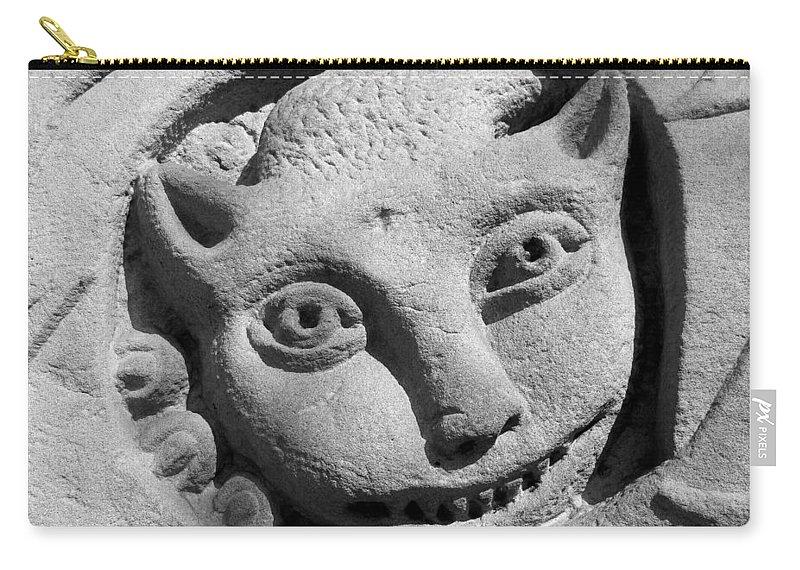 Gargoyle Carry-all Pouch featuring the photograph Gargoyle by Cheryl Hoyle