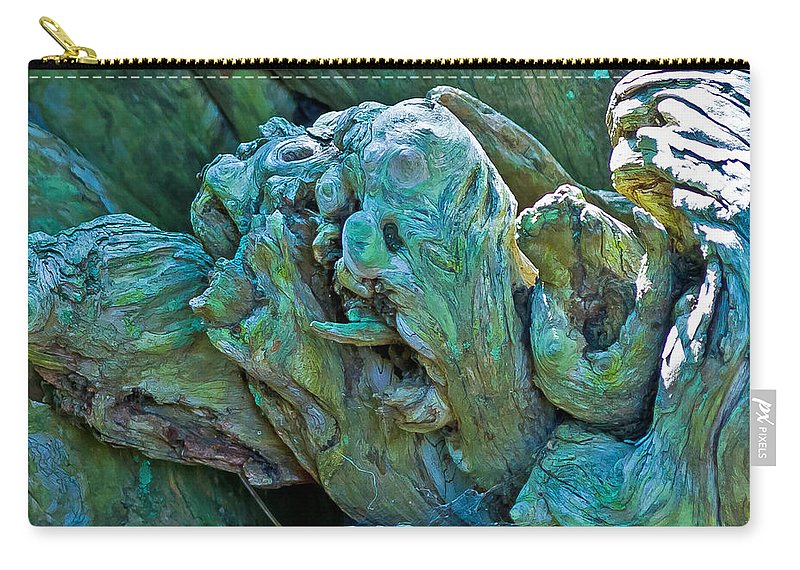 Florida Carry-all Pouch featuring the photograph Gargoyles In Mangrove by Stephen Whalen