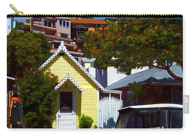 Catalina Carry-all Pouch featuring the painting Gary Baldie Takes A Walk by Snake Jagger