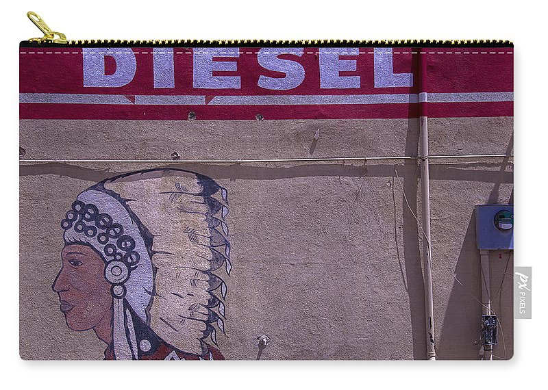 Indian Carry-all Pouch featuring the photograph Gas Station Indian Chief by Garry Gay