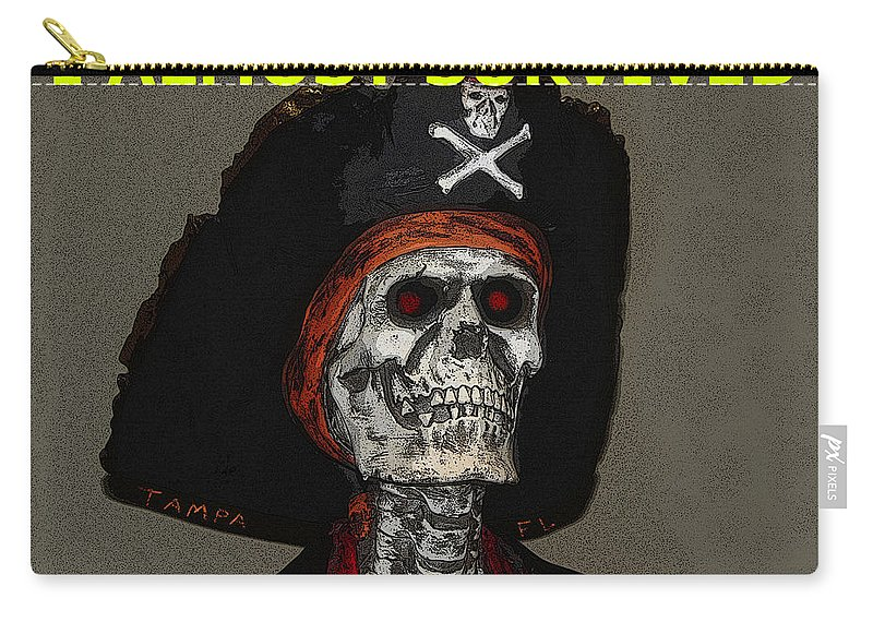 Gasparilla Fest Carry-all Pouch featuring the painting Gaspar Work A by David Lee Thompson