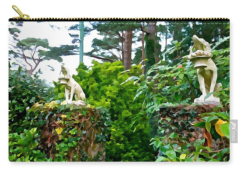 Guardians Carry-all Pouch featuring the photograph Gate Keepers by Charlie and Norma Brock