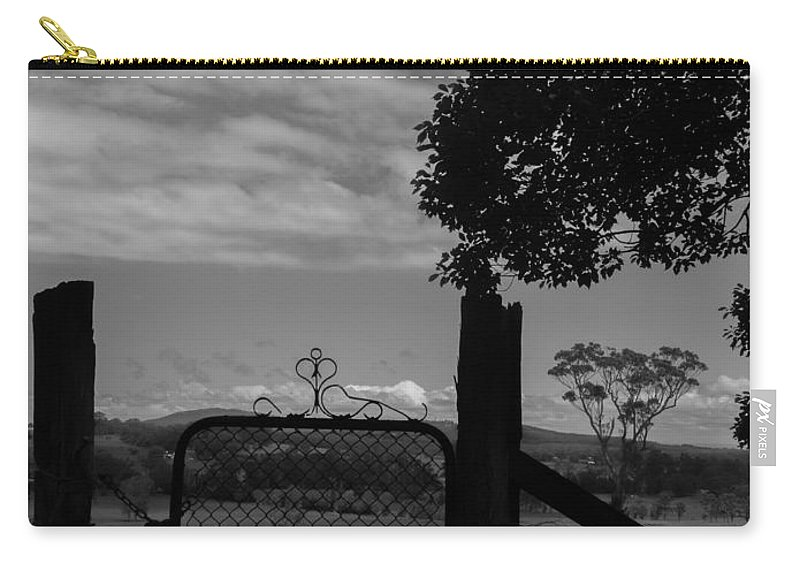 Gate Carry-all Pouch featuring the photograph Gated Light by Kaleidoscopik Photography