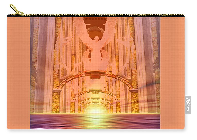 Vision Of Heaven Carry-all Pouch featuring the painting Vision Of Heaven by Todd L Thomas