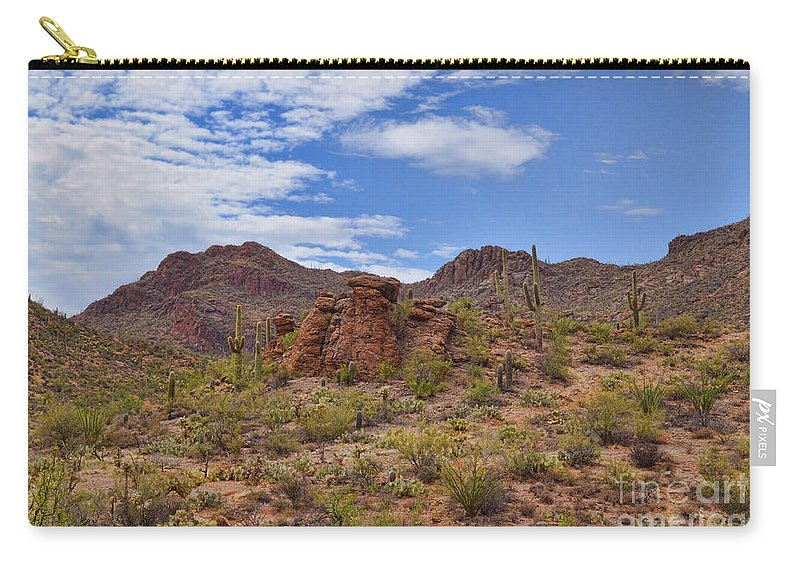 Gates Carry-all Pouch featuring the photograph Gates Pass Scenic View by Donna Greene