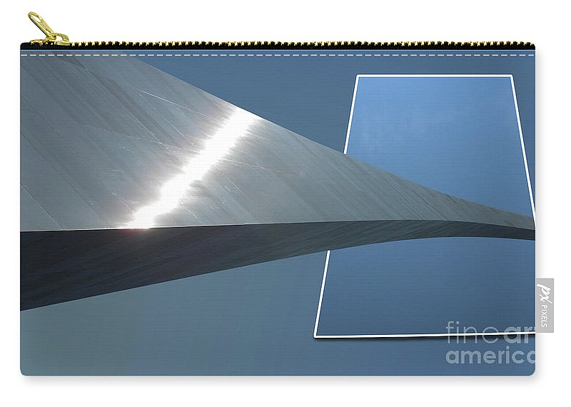 Jefferson National Expansion Memorial Carry-all Pouch featuring the photograph Gateway Arch St Louis 05 by Thomas Woolworth
