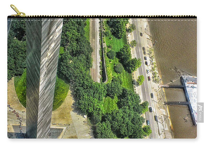 St Louis Carry-all Pouch featuring the photograph Gateway Arch St Louis 10 by Thomas Woolworth