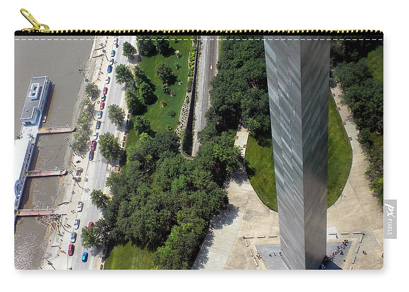 St Louis Carry-all Pouch featuring the photograph Gateway Arch St Louis 11 by Thomas Woolworth