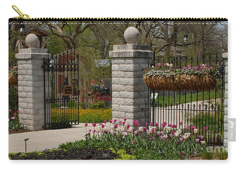 Botanical; Gardens; Gate Carry-all Pouch featuring the photograph Gateway To Beauty by Wesley Farnsworth