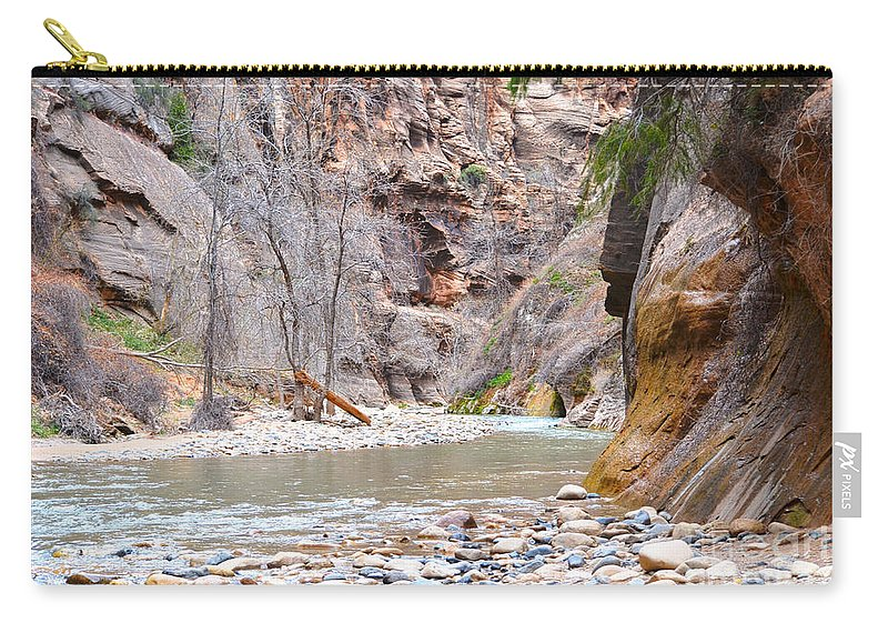 Zion Narrows Carry-all Pouch featuring the photograph Gateway To The Zion Narrows by Rincon Road Photography By Ben Petersen