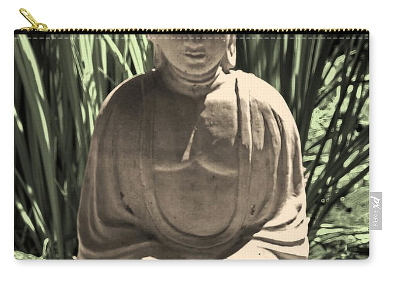 Buddha Carry-all Pouch featuring the photograph Gautama by Joe Geraci