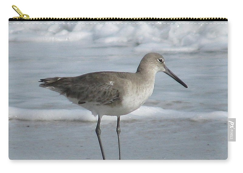 Landscape Carry-all Pouch featuring the photograph Gazing Sandpiper by Ellen Meakin