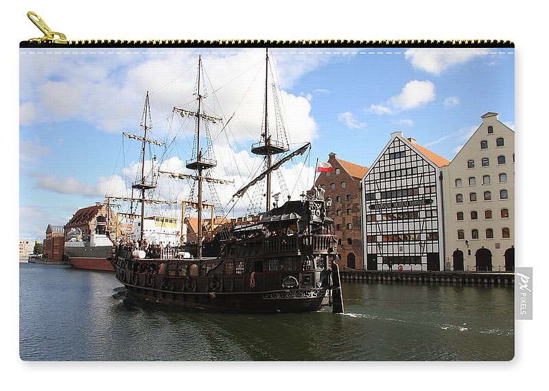 Pirate Ship Carry-all Pouch featuring the photograph Gdynia Pirate Ship - Gdansk by Christiane Schulze Art And Photography
