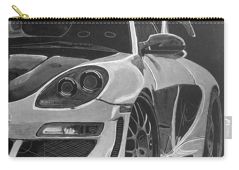 Car Carry-all Pouch featuring the painting Gemballa Porsche Left by Richard Le Page