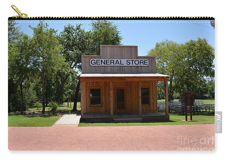 General Store Carry-all Pouch featuring the photograph General Store At Historical Park by Ruth Housley