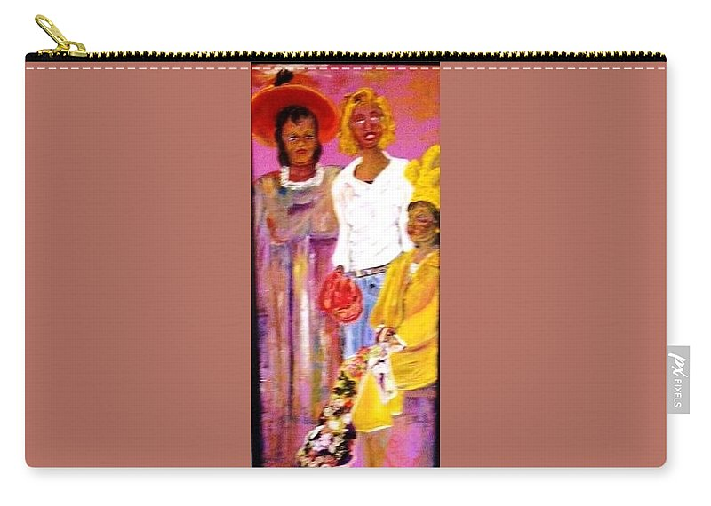 Family Carry-all Pouch featuring the painting Generations by Peggy Blood