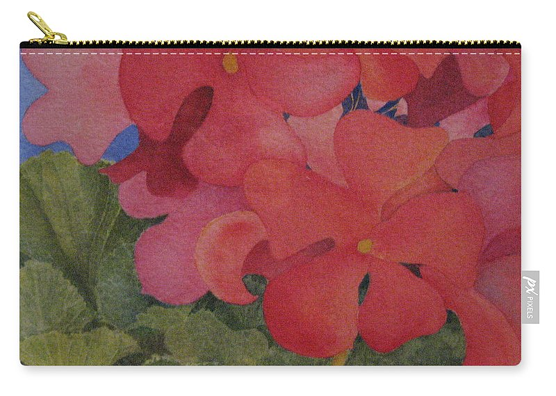 Florals Carry-all Pouch featuring the painting Generium by Mary Ellen Mueller Legault