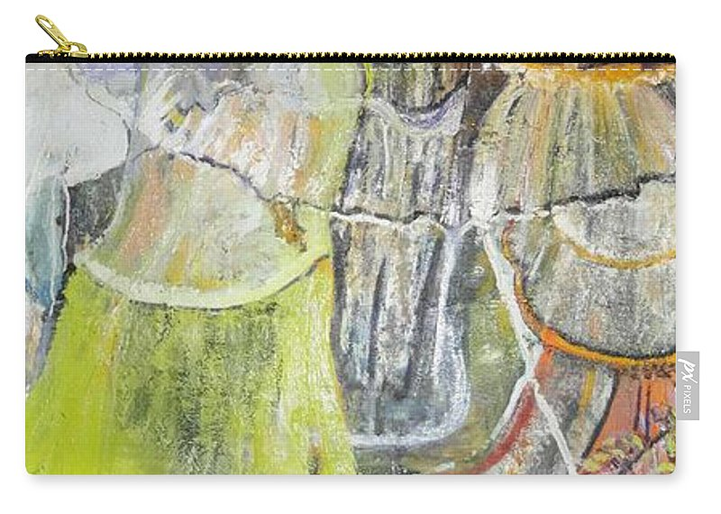 Lady Dancing Carry-all Pouch featuring the painting Geneva's Disco by Peggy Blood