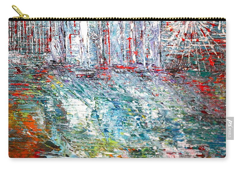 Lake Carry-all Pouch featuring the painting Gentle Breeze by George Riney