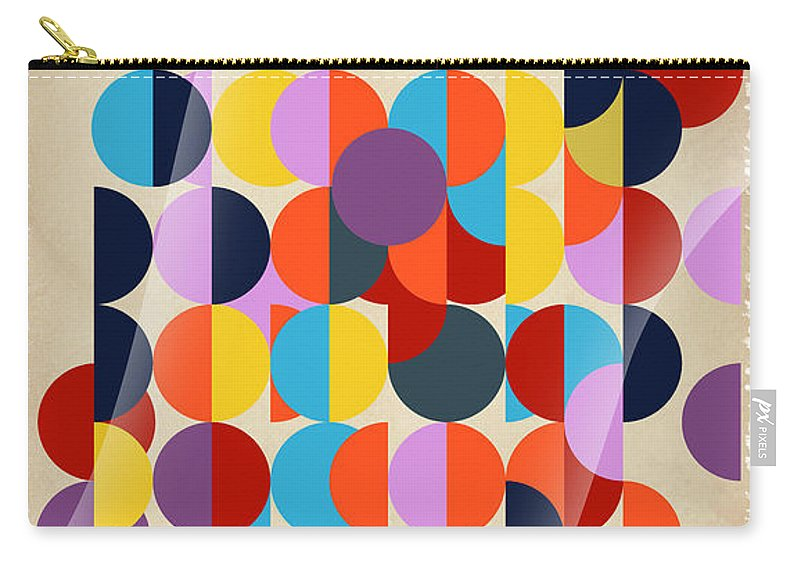 Contemporary Carry-all Pouch featuring the digital art Geo Geo by Mark Ashkenazi