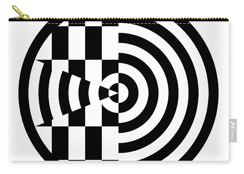 Black Carry-all Pouch featuring the digital art Geomentric Circle 3 by Amy Kirkpatrick