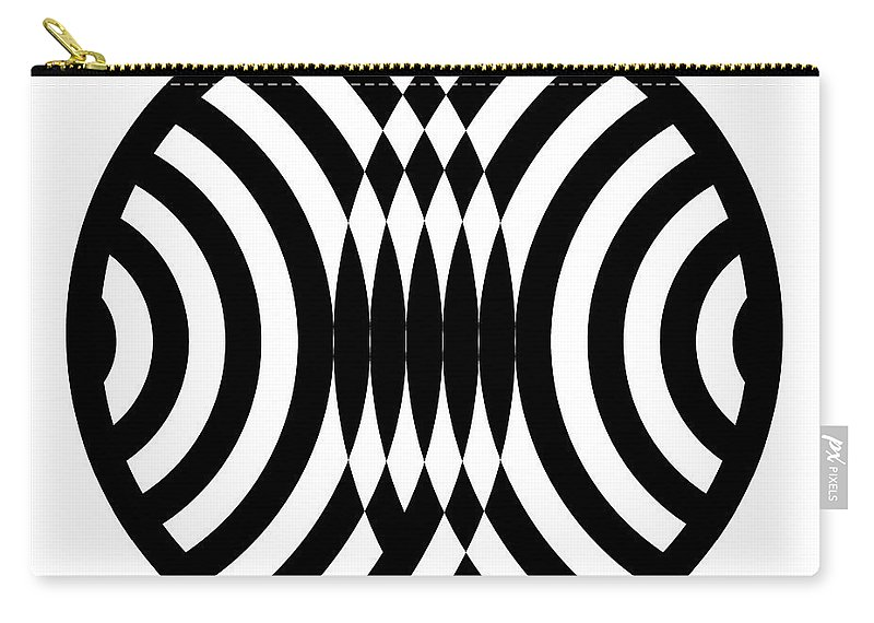 Black Carry-all Pouch featuring the digital art Geomentric Circle 4 by Amy Kirkpatrick