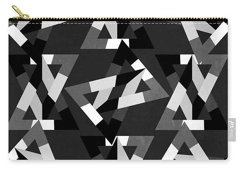 Contemporary Carry-all Pouch featuring the digital art Geometric 12 by Mark Ashkenazi