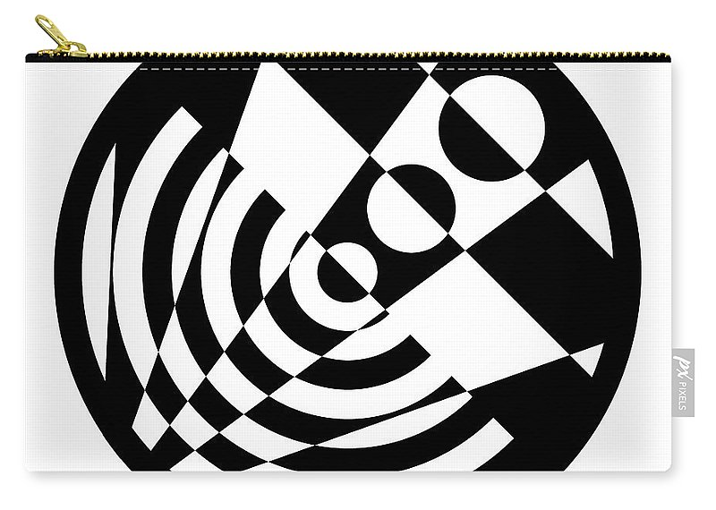 Black Carry-all Pouch featuring the digital art Geometric Circle 5 by Amy Kirkpatrick