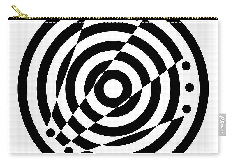 Black Carry-all Pouch featuring the digital art Geometric Circle 6 by Amy Kirkpatrick