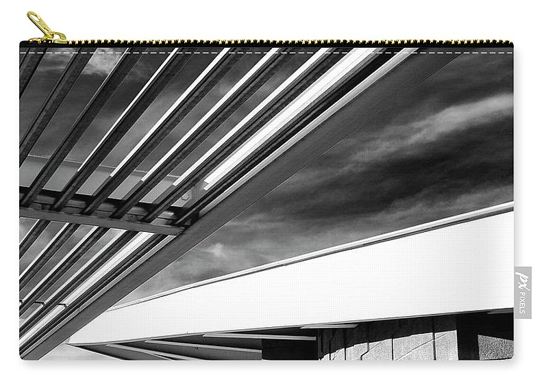 Featured Carry-all Pouch featuring the photograph Geometry Lesson Palm Springs Tram Station by William Dey