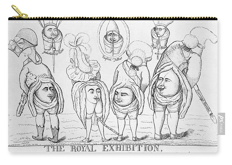 1785 Carry-all Pouch featuring the painting George Iv Wedding by Granger