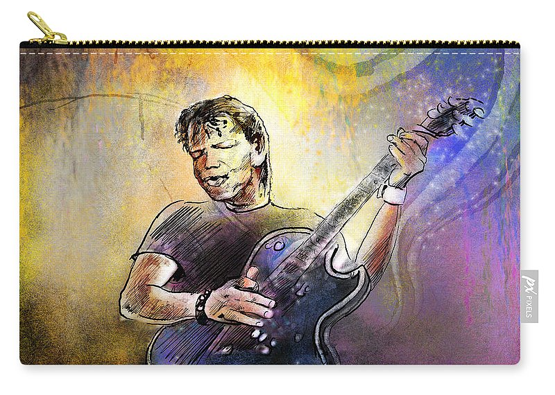 Music Carry-all Pouch featuring the painting George Thorogood In Cazorla In Spain 02 by Miki De Goodaboom