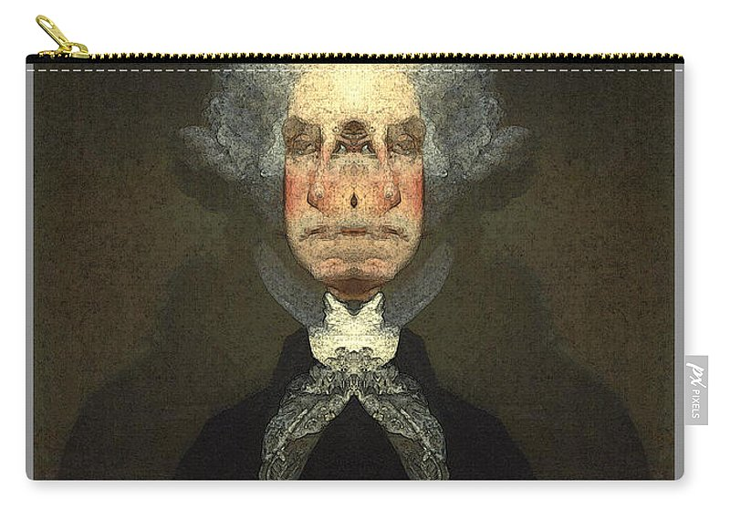 Carry-all Pouch featuring the digital art George Washington by Zac AlleyWalker Lowing