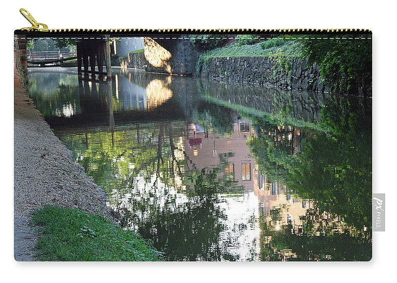 C Carry-all Pouch featuring the photograph Georgetown Canal Reflections by Cora Wandel