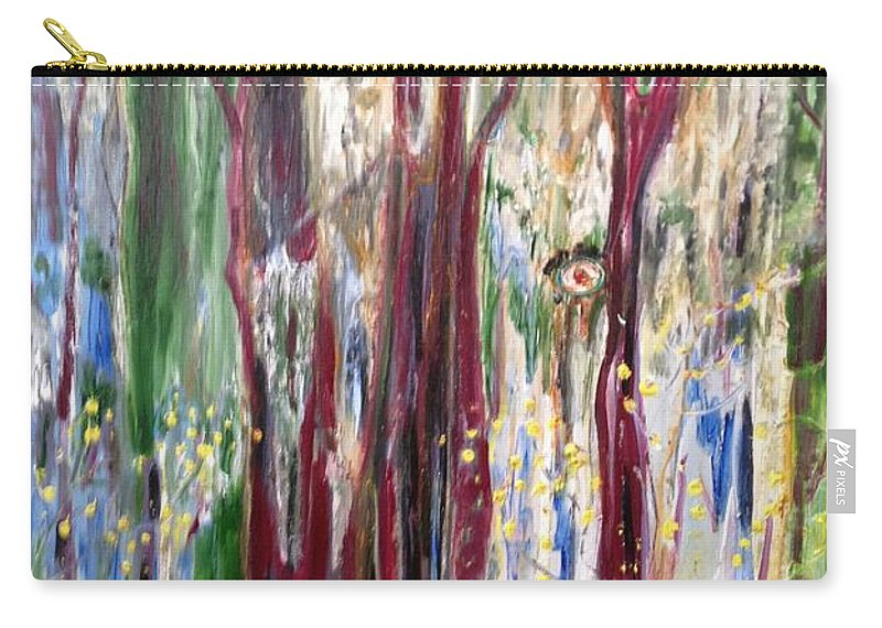 Trees Carry-all Pouch featuring the painting Georgia Marsh in March by Peggy Blood