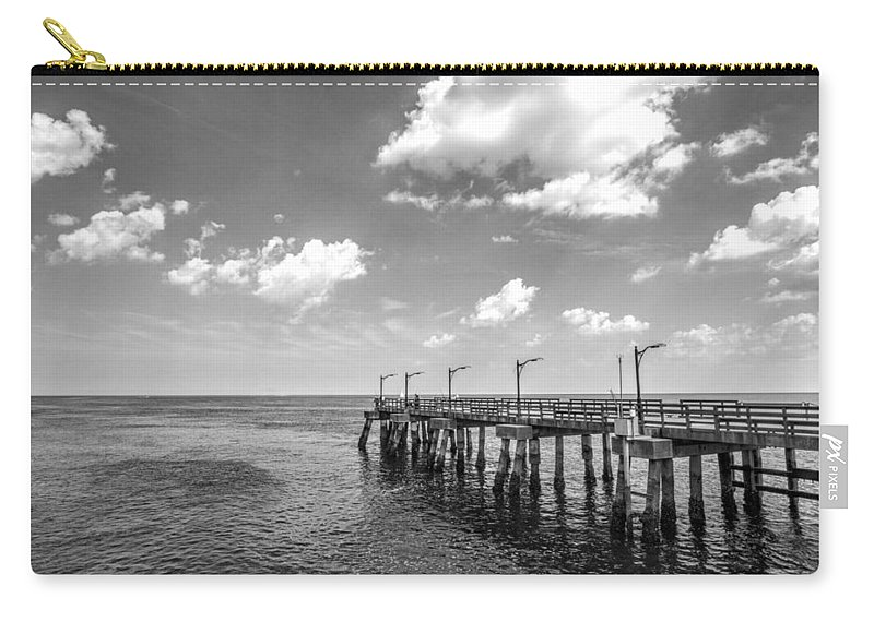 St Carry-all Pouch featuring the photograph Georgia's St Simon's Island Pier by Kathy Clark