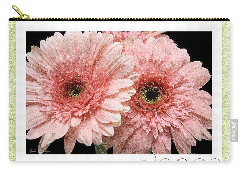 Gerber Carry-all Pouch featuring the photograph Gerber Daisy Peace 4 by Andee Design