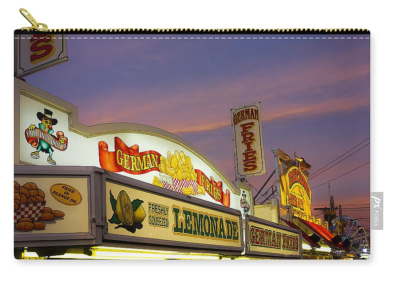Fair Carry-all Pouch featuring the photograph German Fries Topsfield Fair by David Stone