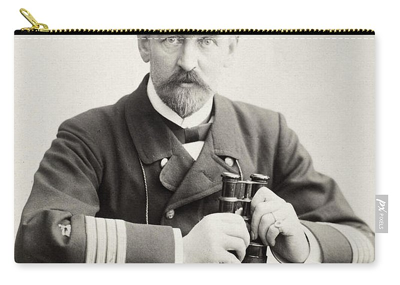 1898 Carry-all Pouch featuring the photograph German Naval Officer, 1898 by Granger
