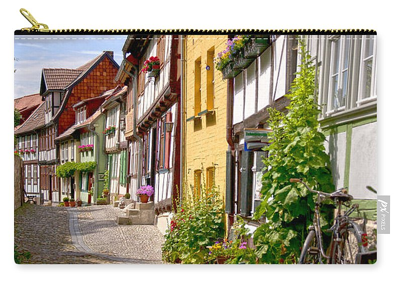 Quedlinburg Carry-all Pouch featuring the photograph German Old Village Quedlinburg by Heiko Koehrer-Wagner