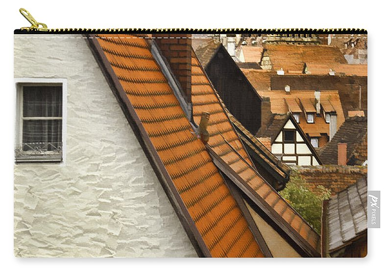 Rooftop Carry-all Pouch featuring the photograph German Rooftops II by Sharon Foster