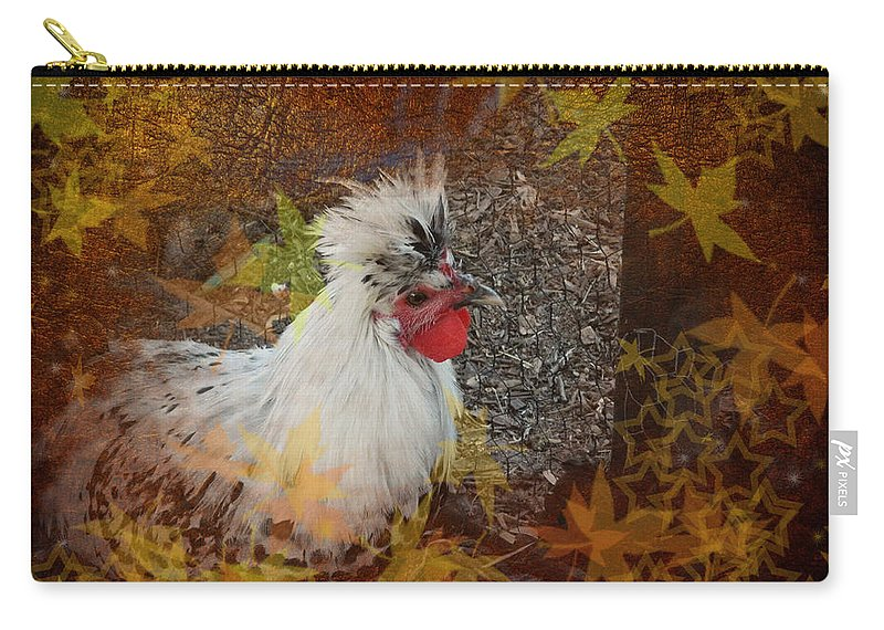 German Carry-all Pouch featuring the photograph German Spitzhauben Appenzeller by George Pedro
