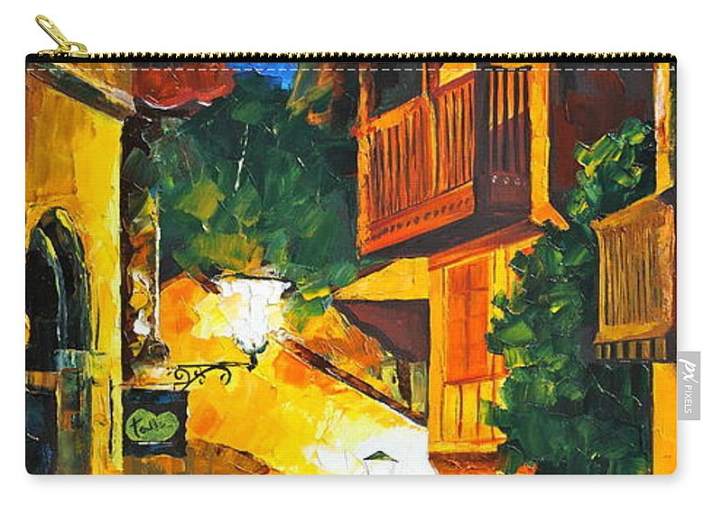 Afremov Carry-all Pouch featuring the painting German Town by Leonid Afremov