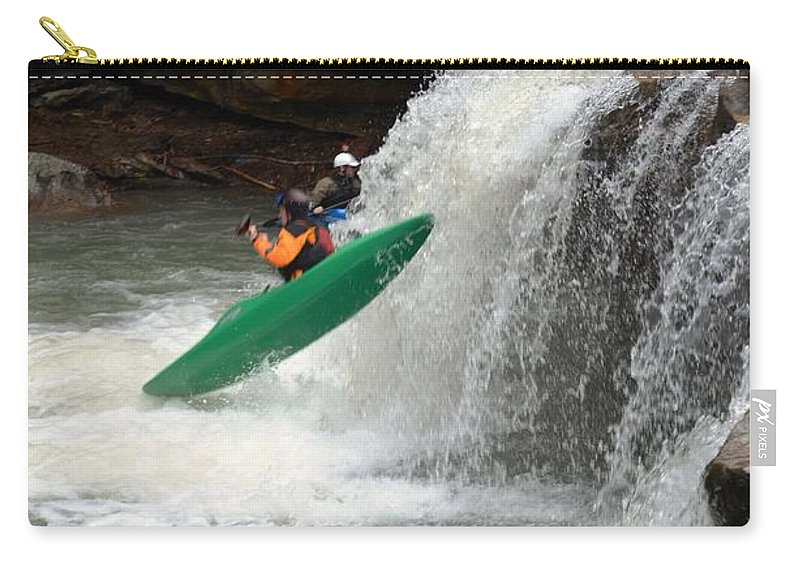 Kayaking Carry-all Pouch featuring the photograph Geronimo by Deanna Cagle