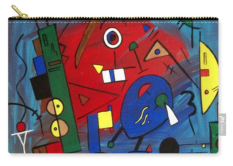 Abstract Carry-all Pouch featuring the painting Get Going by D Fi