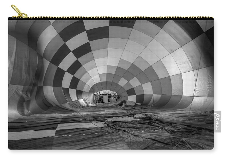 2011 Carry-all Pouch featuring the photograph Getting Inflated-bw by Tom Weisbrook