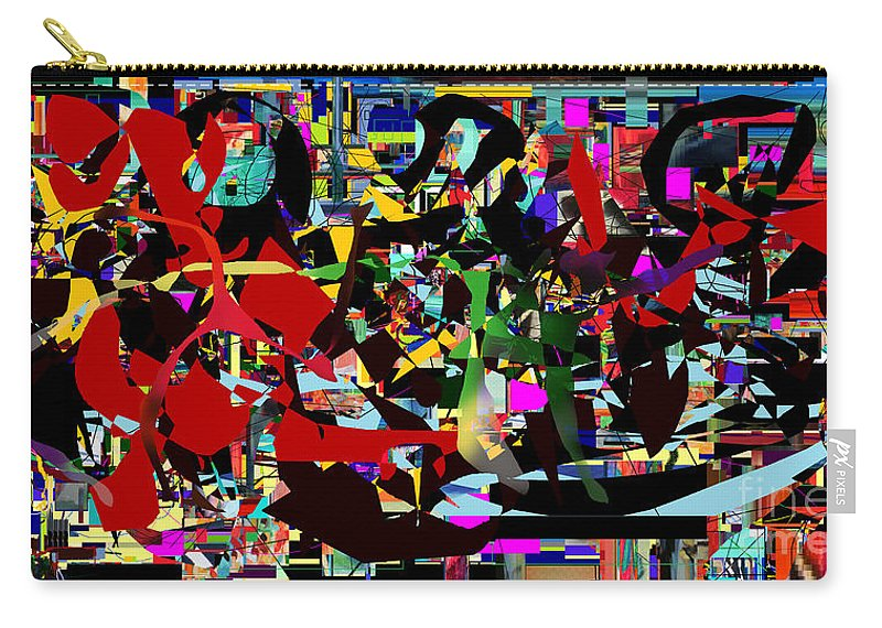 Carry-all Pouch featuring the digital art Geula 5bc by David Baruch Wolk